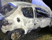 Pożar samochodu osobowego w gm. Grajewo