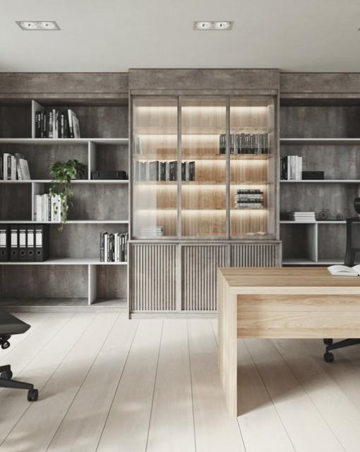 Loftowy gabinet. Pomysł na funkcjonalną przestrzeń do pracy.