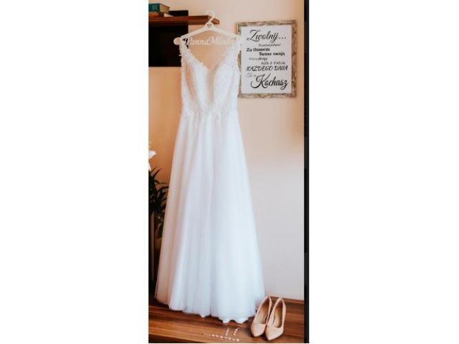 Grajewo ogłoszenia: Sprzedam przepiękną suknie ślubną w kolorze śnieżno-białym....