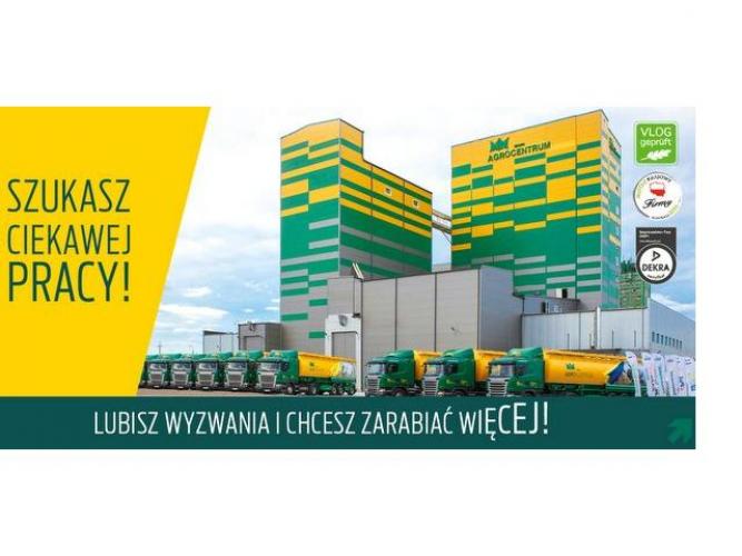 Grajewo ogłoszenia: GRUPA AGROCENTRUM Sp. z o.o. , Wytwórnia Pasz, z siedzibą w...