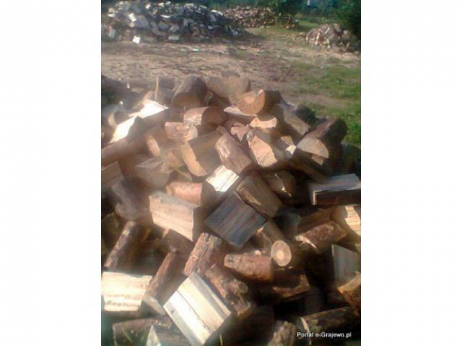 Grajewo ogłoszenia: Sprzedam drzewo opałowe suche:  dąb, brzoza, sosna, olcha z...