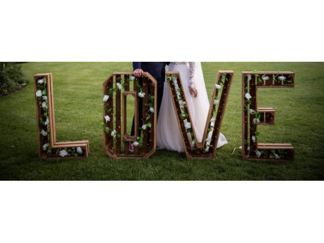 Grajewo ogłoszenia: Do wynajęcia napis LOVE   -oświetlony -dowóz i odbiór w...