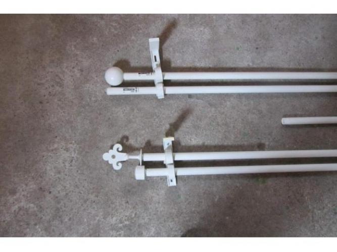 Grajewo ogłoszenia: Sprzedam używane białe karnisze drążkowe podwójne mocowane do...