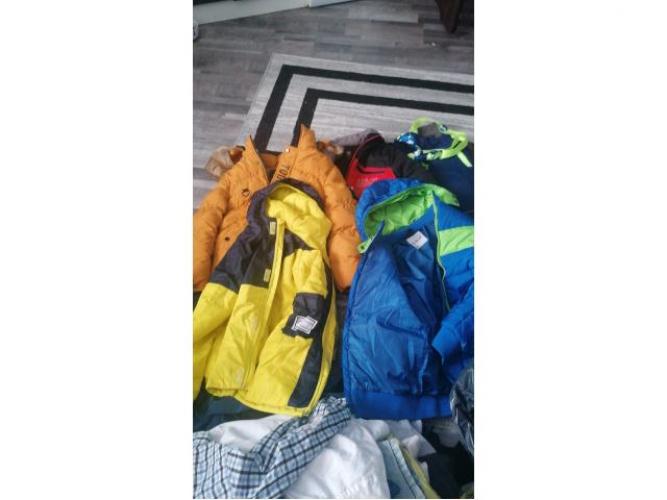 Grajewo ogłoszenia: Sprzedam dużą ilość ubrań po synku od 122 do 134 kurtki...