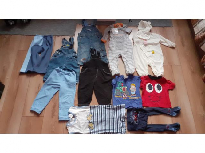 Grajewo ogłoszenia: Sprzedam ubranka dla chłopca 9-12miesięcy.