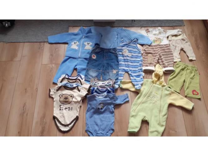 Grajewo ogłoszenia: Sprzedam ubranka dla chłopca 0-3 miesięcy widoczne na zdjęciu.