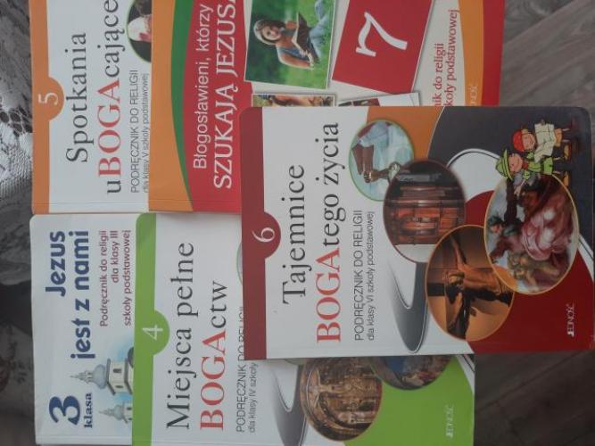 Grajewo ogłoszenia: Sprzedam podręczniki do religii od kl.3 do 7