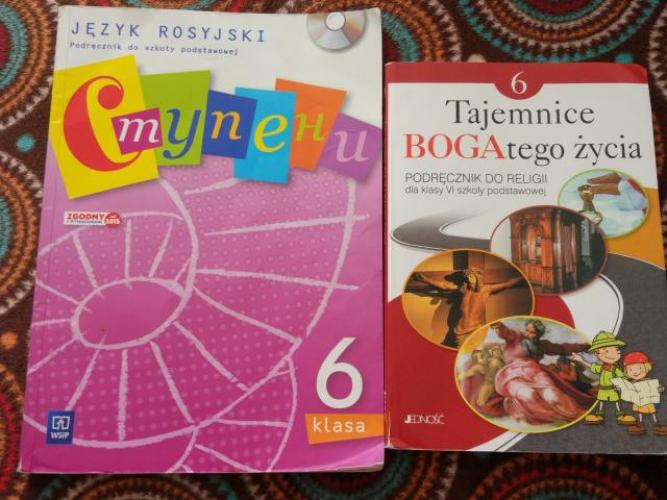 Grajewo ogłoszenia: Sprzedam książki do klasy 6. Język rosyjski 10 zł. Religia 5 zł.