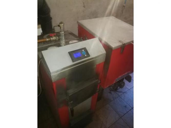 Grajewo ogłoszenia: Piec na ekogroszek-pellet, 15 kW, sprawny podajnik i wentylator,...