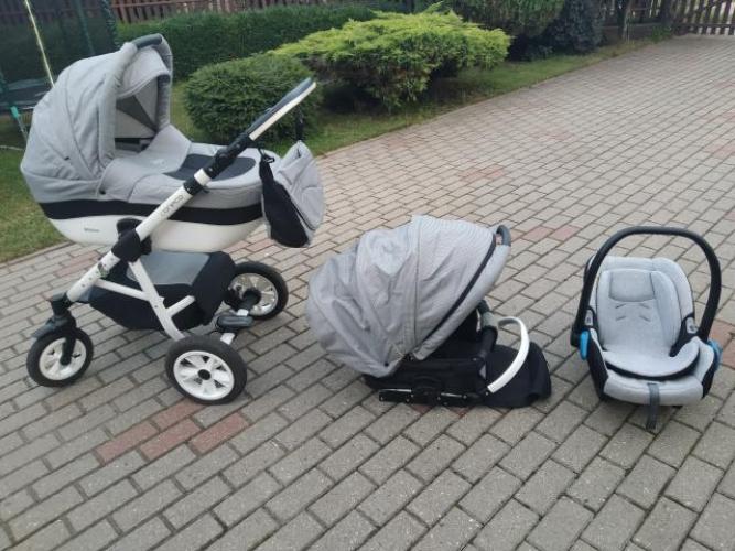 Grajewo ogłoszenia: Sprzedam wózek Coneco Comodo 3w1 (gondola, spacerówka, fotelik),...