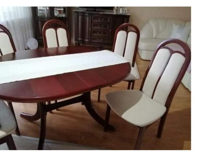 Grajewo ogłoszenia: Sprzedam stół owal 1,30 m x 1 m rozkładany plus sześć...