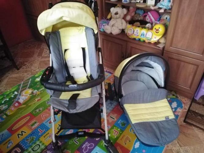 Grajewo ogłoszenia: Sprzedam wózek 2w 1 Chicco,spacerówka i gondola z przykryciami
