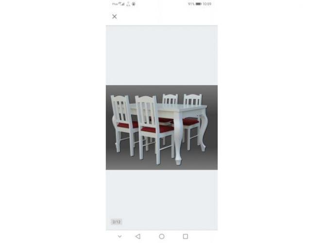 Grajewo ogłoszenia: Sprzedam w stanie idealnym komplet stół i 4 krzesła, drewno...