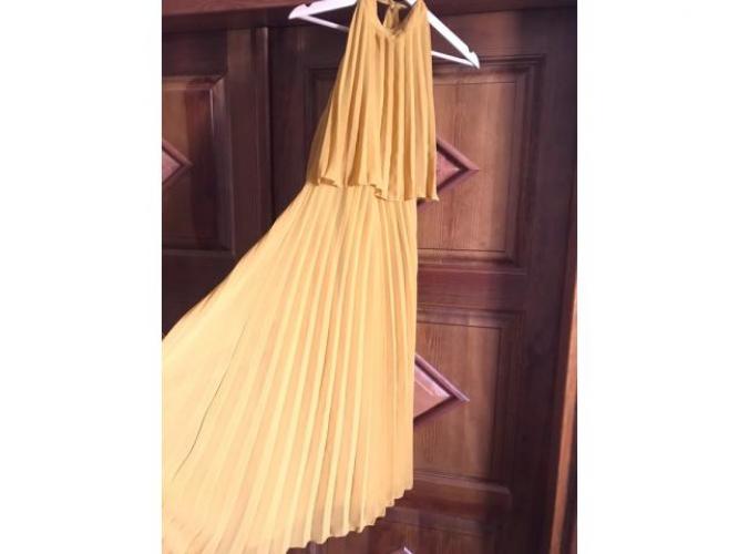 Grajewo ogłoszenia: Musztardowa sukienka r.M 38 założona raz stan idealny...