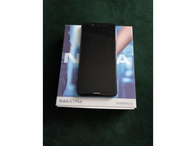 Grajewo ogłoszenia: Sprzedam telefon czarny nokia 5.1 plus  widoczny na zdjęciu stan...