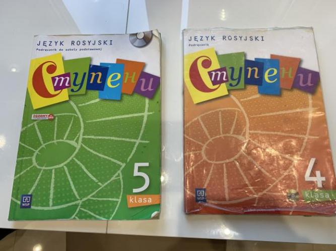 Grajewo ogłoszenia: Witam. Sprzedam 2 podręczniki do rosyjskiego do 4 i 5 klasy....