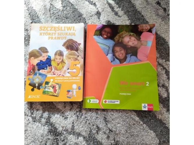 Grajewo ogłoszenia: Witam.  Sprzedam podręczniki do piątej klasy - religia i j....