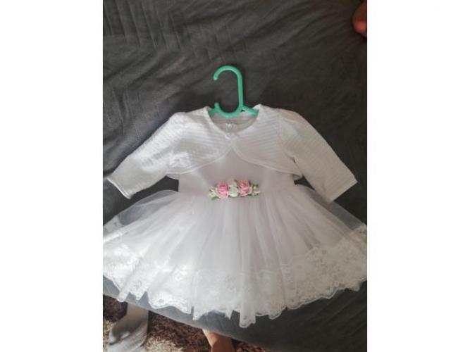 Grajewo ogłoszenia: Sprzedam sukienkę do chrztu rozmiar 62/68.ubrana raz. Do tego...
