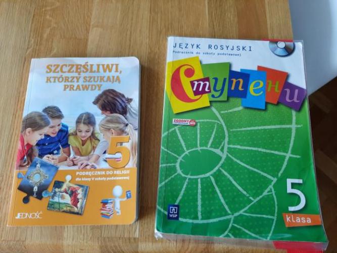 Grajewo ogłoszenia: Podręczniki do 5 klasy. Religia i język rosyjski