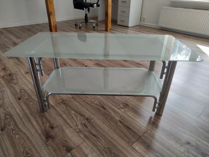 Grajewo ogłoszenia: Sprzedam stolik/ławę szkło na aluminiowym stelażu. Wymiary...