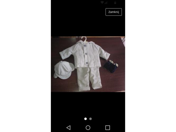 Grajewo ogłoszenia: Sprzedam ubranko do chrztu dla chłopca rozmiar 62-68. Ubranko w...