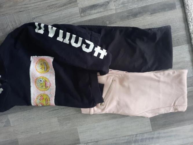 Grajewo ogłoszenia: Mam na sprzedaz ubrania dla dziewczynki na 146-152: getry i bluzy...