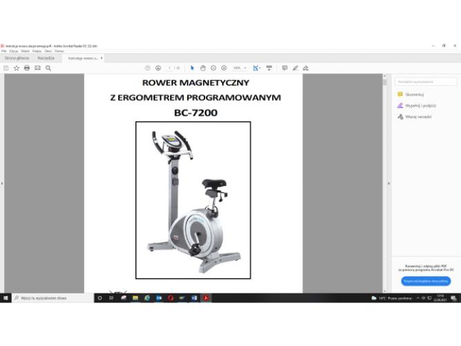 Grajewo ogłoszenia: Sprzedam duży rower stacjonarny Body Sculpture BC - 7200, magnetyczny