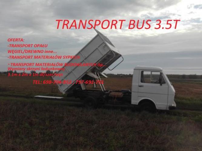 Grajewo ogłoszenia: Bus 3.5t transport. Transport opału węgiel, drewno i inne......