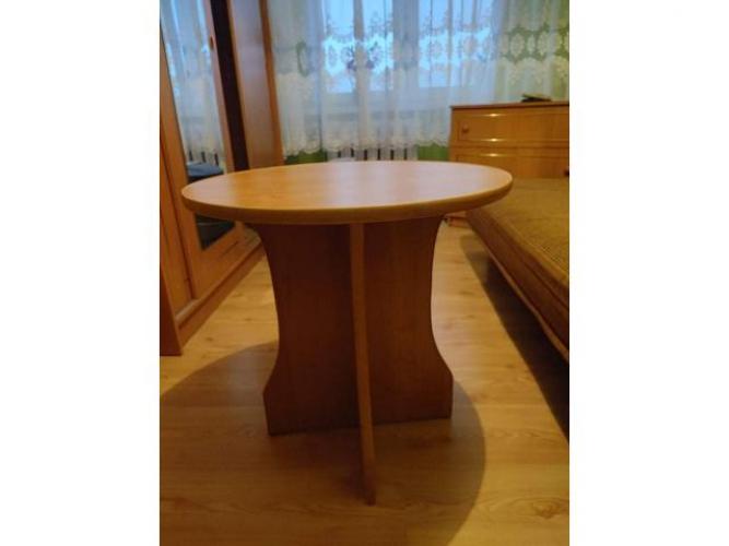 Grajewo ogłoszenia: Stolik kawowy. Kolor olcha. Stan idealny. Średnica 60 cm,...