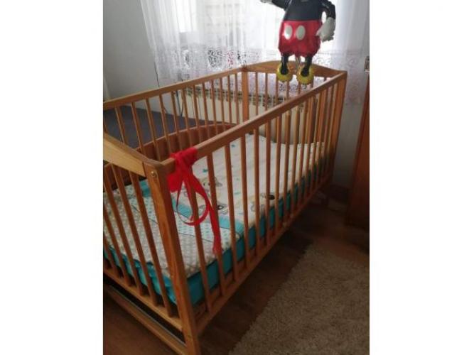 Grajewo ogłoszenia: Sprzedam łóżeczko drewniane widoczne na zdjęciu. Materac nowy ....