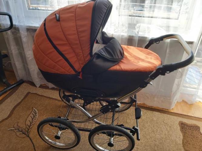 Grajewo ogłoszenia: Sprzedam wózek KAJTEX 3w1 na dużych, pompowanych kołach, w...