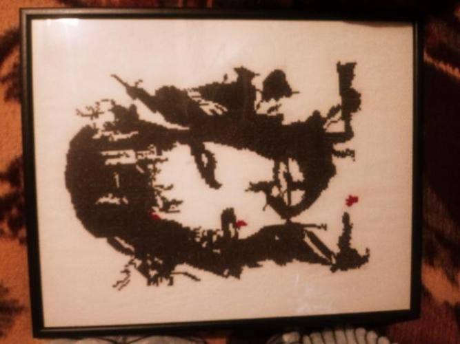 Grajewo ogłoszenia: Sprzedam wyszywany obraz. 42/62 cm. W ramce oszklony. Cena do...