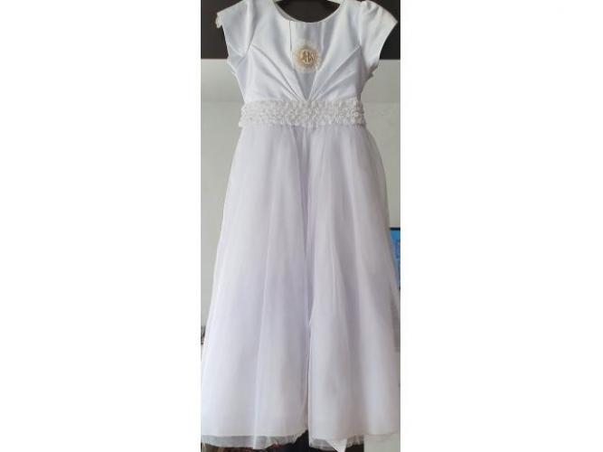 Grajewo ogłoszenia: Posiadam sukienkę komunijną na krótki rękaw.Sukienka jest szyta...