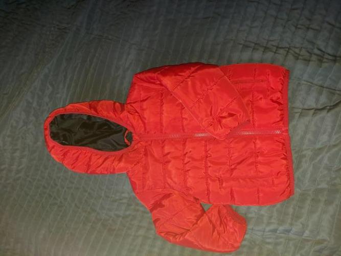 Grajewo ogłoszenia: Czerwona pikowana kurtka firmy Sinsay dla chlopca w stanie...