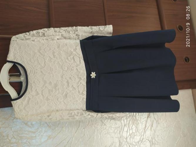 Grajewo ogłoszenia: Sprzedam strój galowy dla dziewczynki. Rozmiar 140-146. Nałożony...