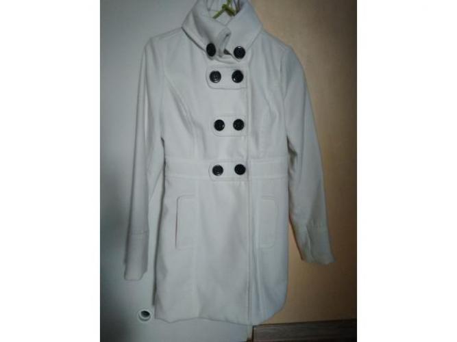 Grajewo ogłoszenia: Sprzedam biały płaszczyk Telly Weijl płaszczyk stan bdb roz....