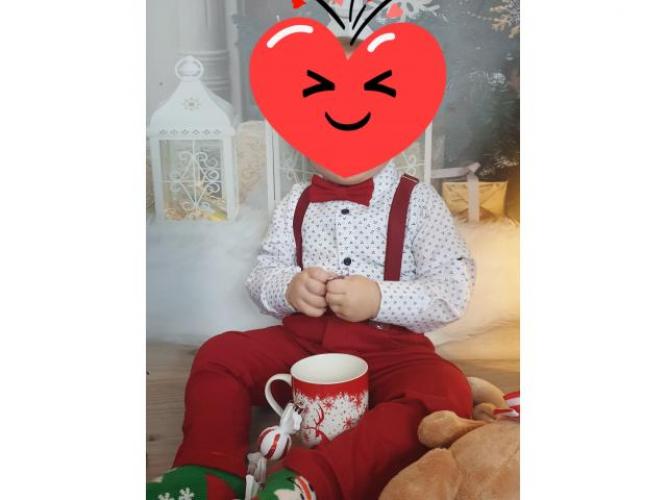 Grajewo ogłoszenia: Witam śliczne ubranko świąteczne dla chłopczyka rozmiar80/86 w...