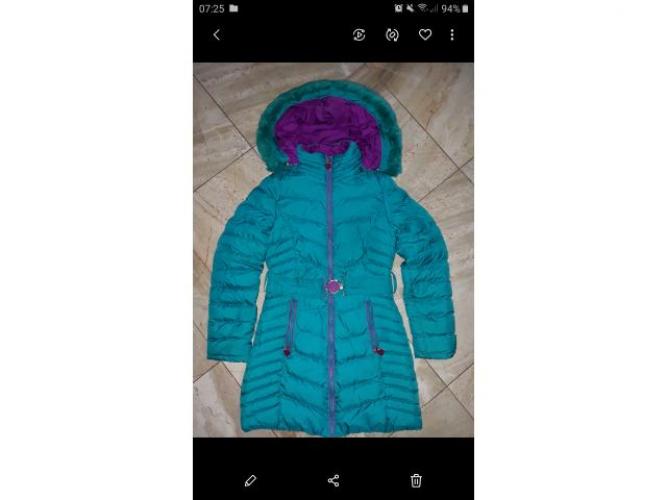 Grajewo ogłoszenia: Sprzedam zimową dziewczęcą kurtkę rozm 146