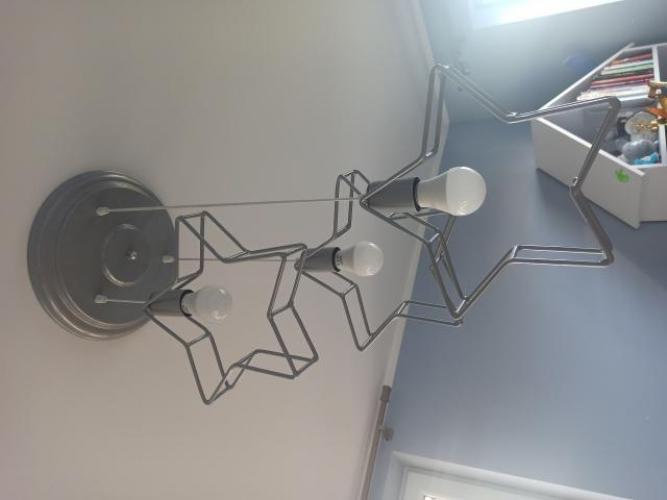 Grajewo ogłoszenia: Sprzedam szarą, metalowa sufitową lampę do pokoju dziecięcego....